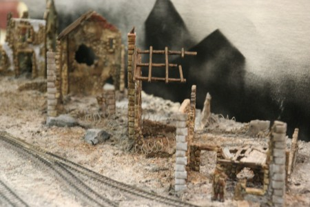 Matt Wildsmith's layout The Wipers, Fish-Hook and Menin Railway at the British Front in France in the First World War