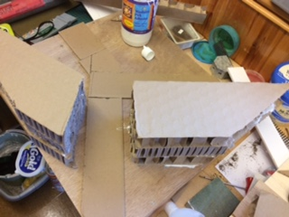 Another view of the basic embankment form - sloping sidesto be added later